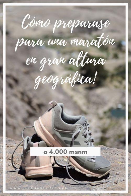 Preparación maratón en altura geográfica (4.000 m.s.n.m)